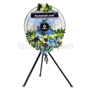 พัดลมพวงหรีดชุดใหญ่ VENZ 24 นิ้ว รุ่น FBM-A สามขา Platinum