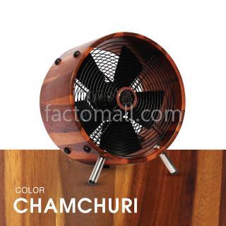 """พัดลมไม้ 12"""" WOOD STAND Chamchuri"""