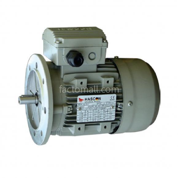 มอเตอร์ Hascon 0.55kW3/4HP6Pole 900rpmแบบหน้าแปลน (B5) อะลูมิเนียมเฟรม 3phase 220/380V