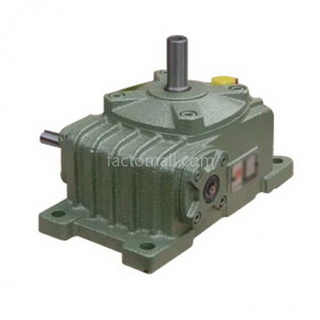 เกียร์มอเตอร์ Kimpo worm gear KVA(PO-RU) ขนาด80(22) อัตราทด10 2HP แบบเหล็กหล่อ